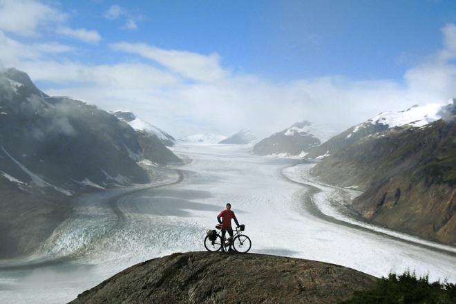 Alaska Glacier Bicycle Photo